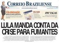 Lula manda conta da crise para fumantes