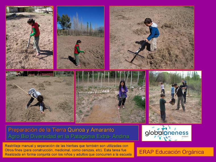 Preparando la tierra con los niños