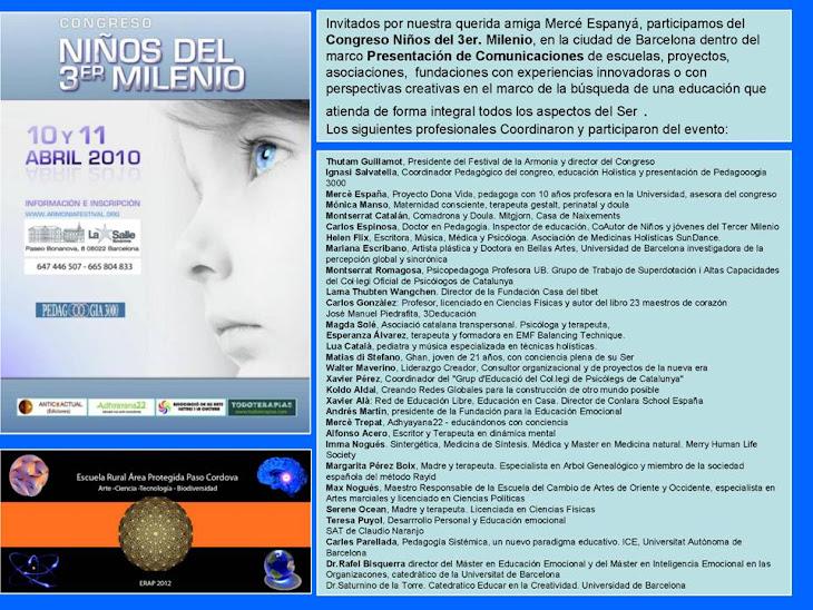 La escuela participando en el Congreso de Niños del tercer Milenio en Barcelona