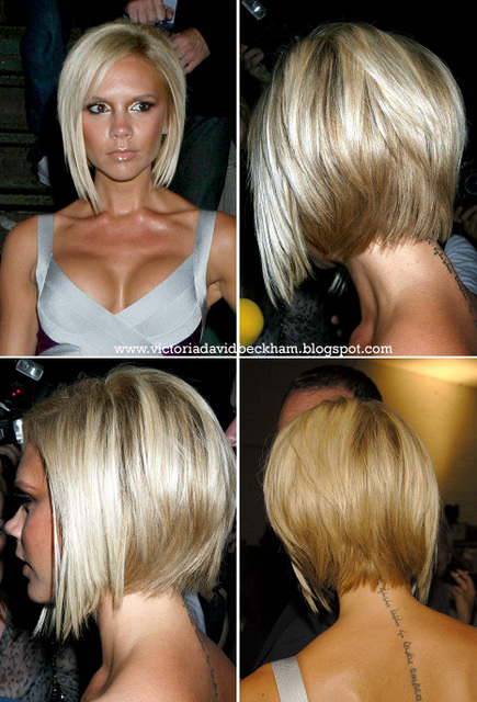 "victoria beckham short hair back view. Victoria ""Posh"" Beckham#39;s"