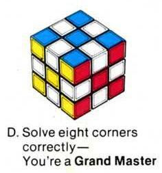 easy way to remember how to solve a rubix cube