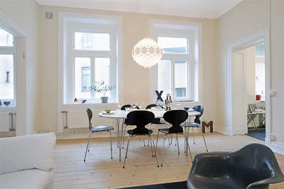 Old Swedish Apartment Becomes Modern Design