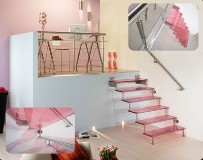 Modern Spiral Glass Step Staircases