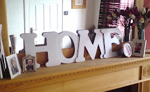 Silver wooden letters