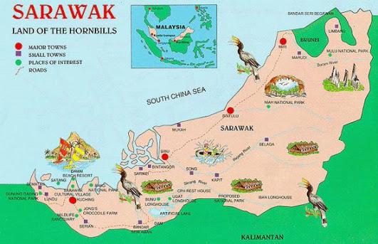 sarawak taurism map