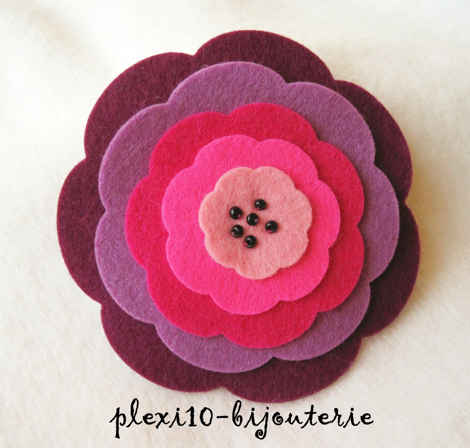 Imagenes Broches De Flores De Fieltro - con 2 botones broches originales