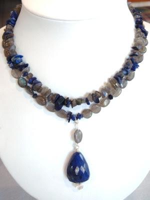 Lapis Lazuli, Labradorite & Iolite Necklace