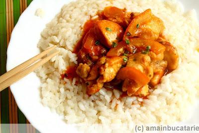 Articole culinare : Pui in sos dulce de portocale