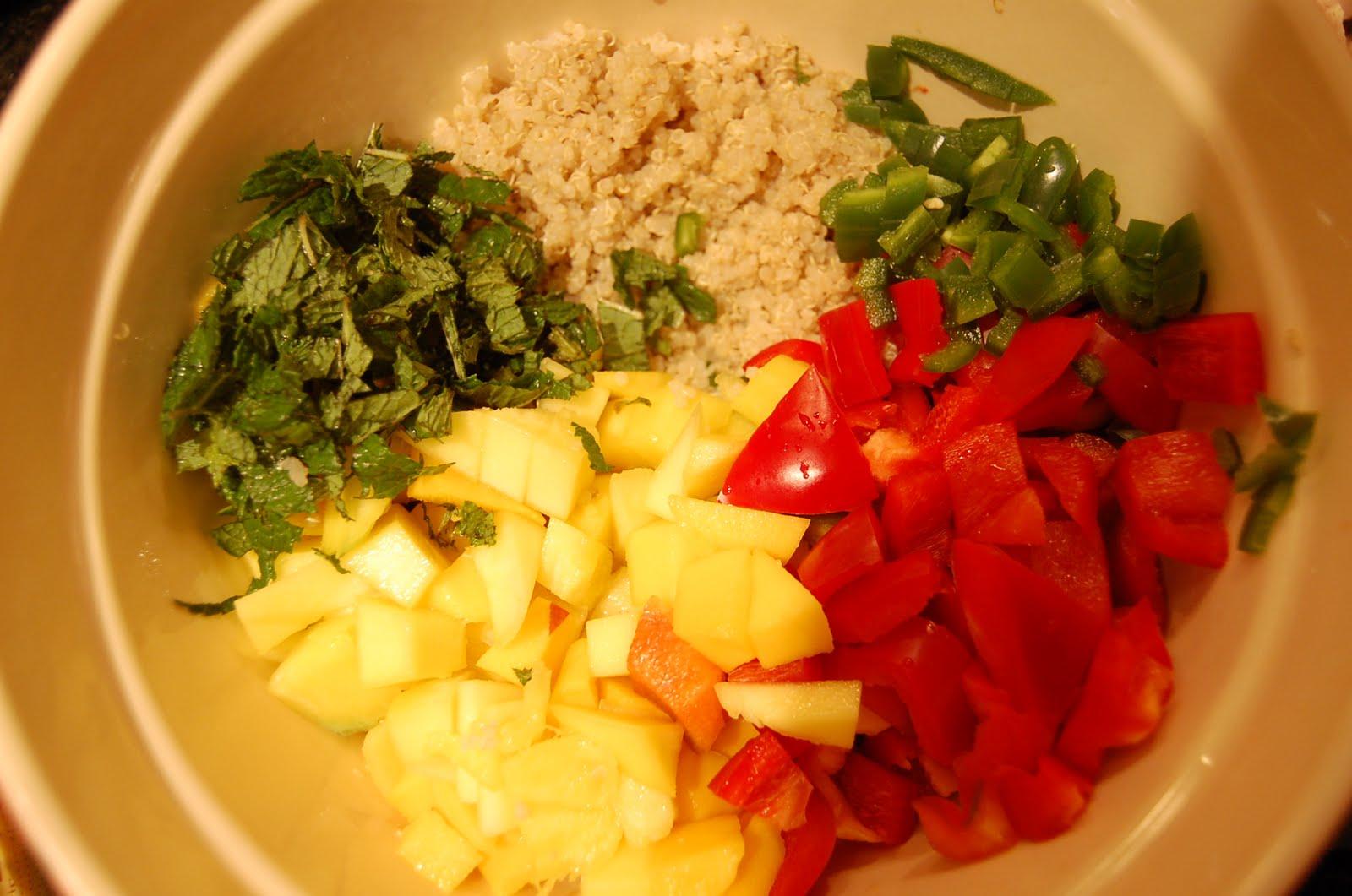 LADY GOUDA: Quinoa with Mango and Curried Yogurt