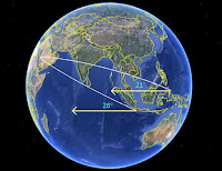 segitiga bola didasari oleh pencarian umat muslim terhadap kiblat