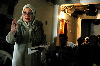Hashmeya Muhsin Hussein. Ready for hard work, accountability, and  action. Photo by David Bacon.