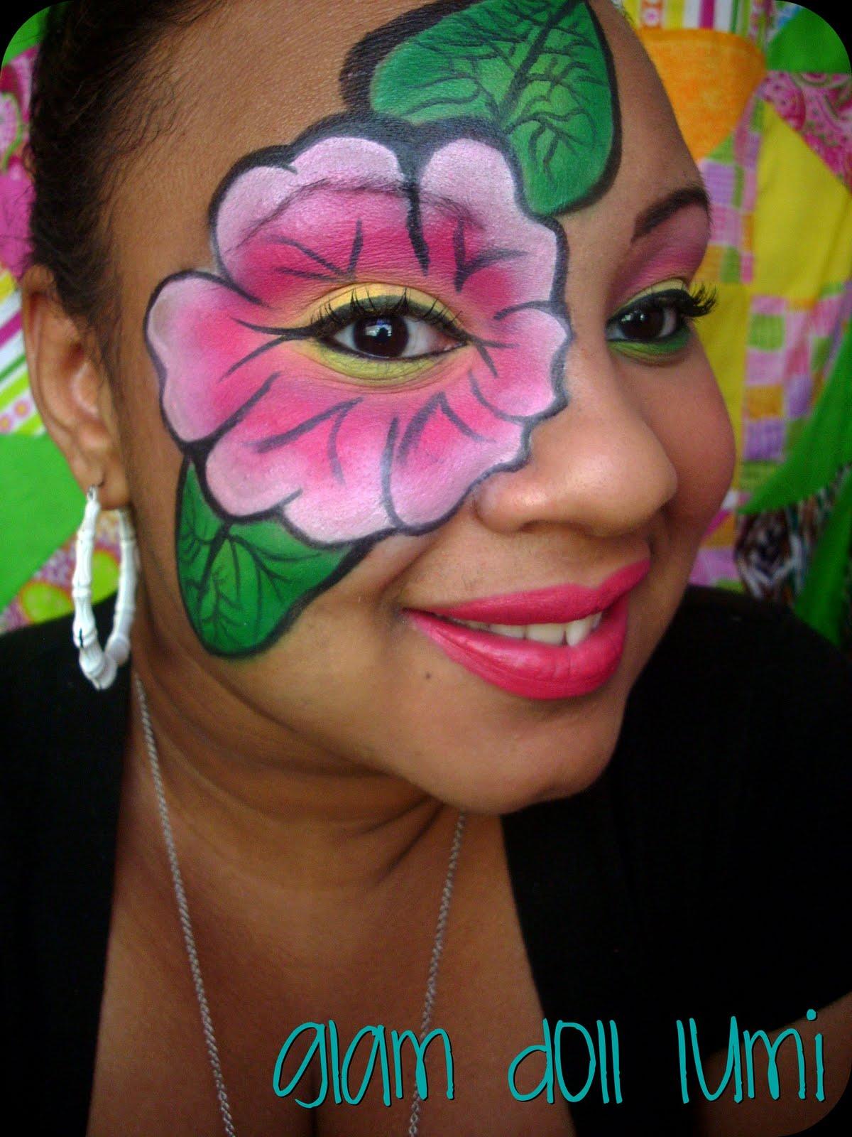 face art: bright,bold,
