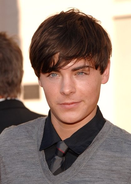 zac efron black hair
