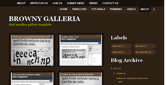 Brown Blogspot Theme