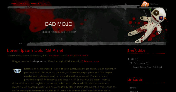 Horror Movie Free Blogger Template