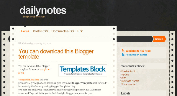 Best Notepad Blogger Templates