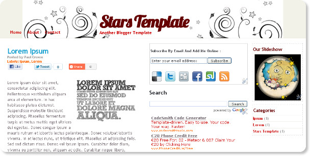 Best Stars Stylish Blogger Templates
