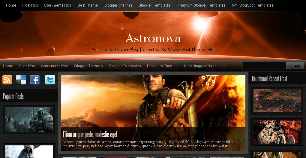 Astronova Wordpress and Blogger Theme Template