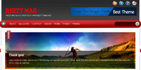 Best premium Magazine Blogger Templates