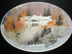 Mellatomta/akvarell