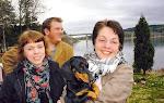 David,Marielle,taxen Irja och Marja i Södra Fjöle