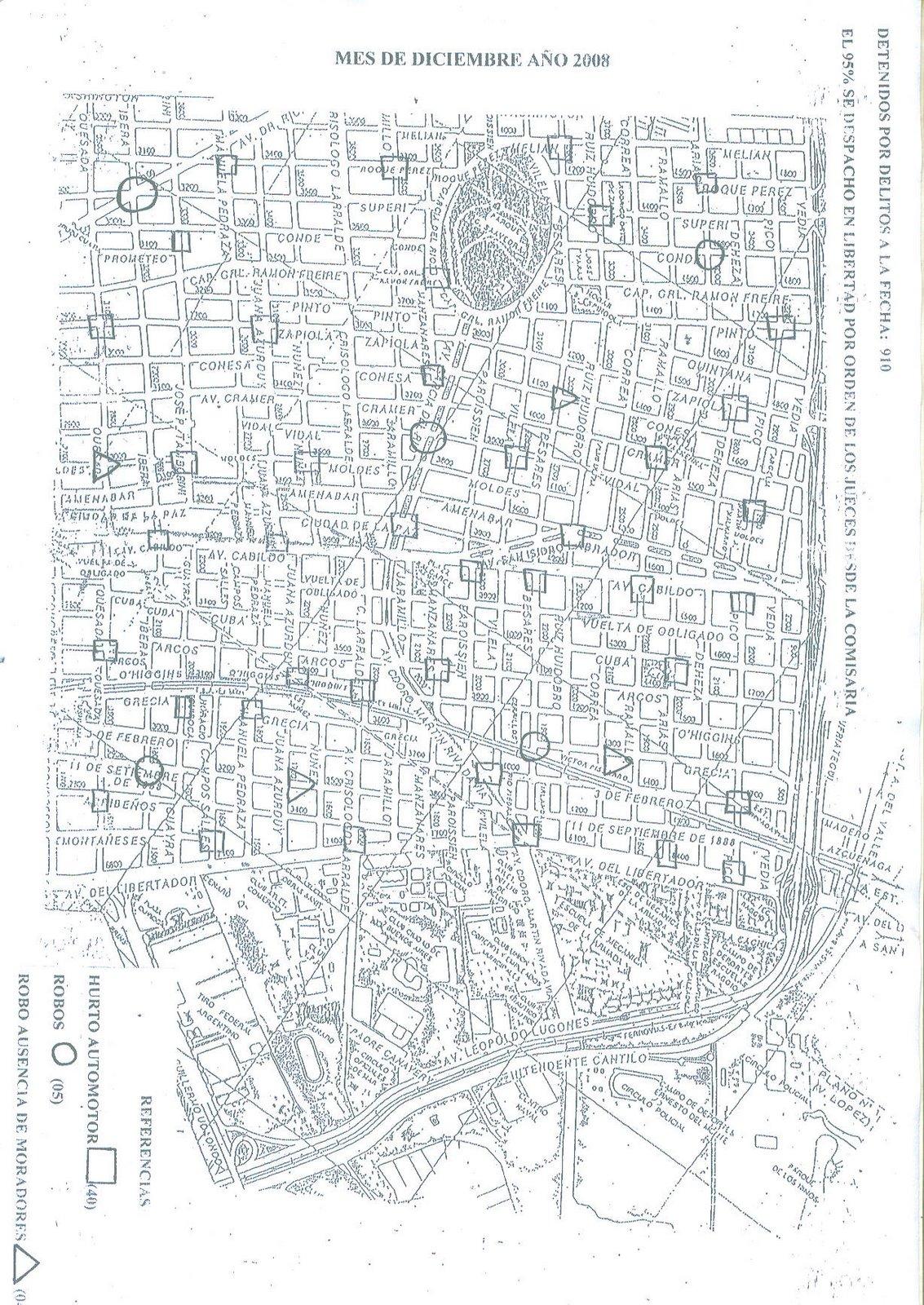 Mapa del Delito Diciembre 2008 -