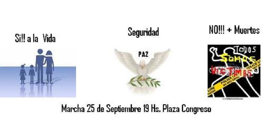 RED AMPARO: Convoca Marcha 25 de Septiembre a las 19 Hs en Plaza Congreso