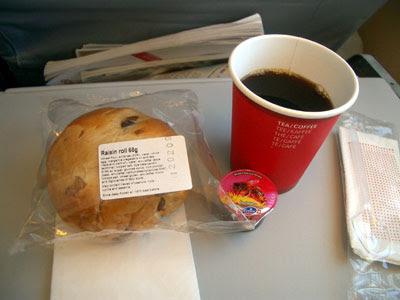 Sultana bun and coffee