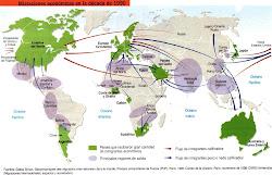 Principales flujos migratorios