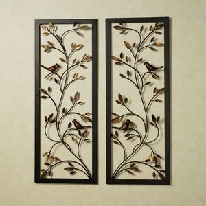 Wallpannel on Songbird Metal Wall Panel Set   Handcrafted From Steel  This Framed