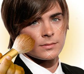 hombre metrosexual maquillaje