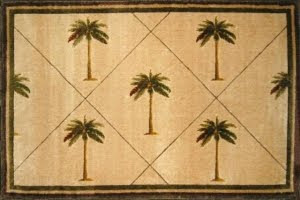 Palm Tree Carpet Tropical Rug