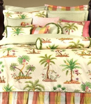colorful tropical bedding