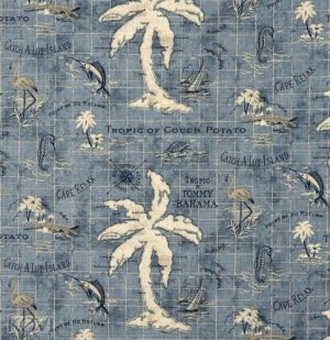 tropical palm tree fabric
