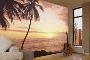 palm tree murals