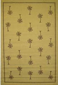 brown palm tree rug