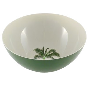 palm tree serving bowl
