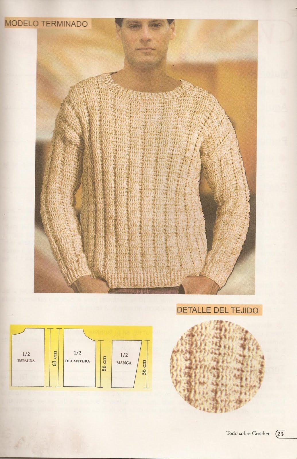 Encantador Hombre Del Modelo Suéter Crochet Fotos - Ideas de Patrón ...