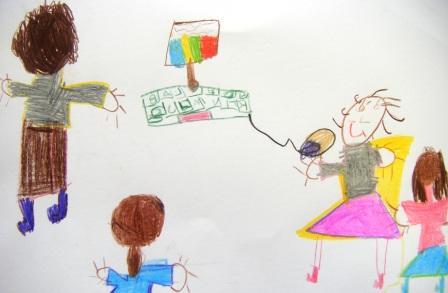 Tic-tacteando no Jardim-de-infância