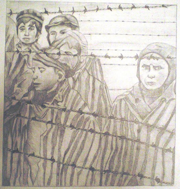 Beatrice Auricchio, Les enfants derrière fil de fer barbelé dans 27 Janvier : Le jour de la memoire