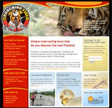 Crouching Tiger Cycling Tours' website