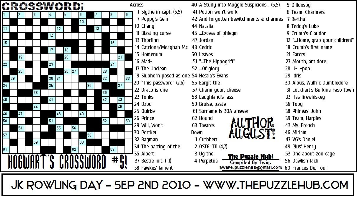 the puzzle hub crossword hogwarts crossword 5. Black Bedroom Furniture Sets. Home Design Ideas