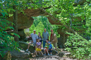 Family on Petit Jean