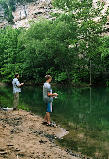 Eddie and Chris Fishing