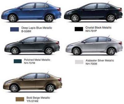 Honda city colours
