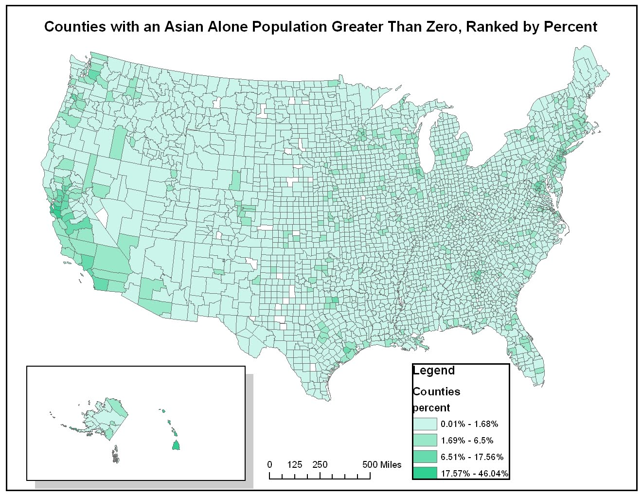 above overall concentration levels of asians were lower than for blacks this was due in part to the fact that there are fewer asians in the total