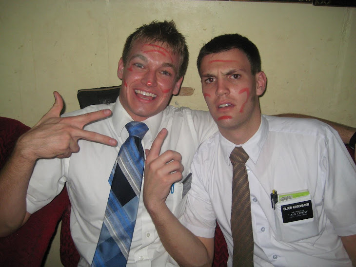 Me and Elder Booth w/face paint