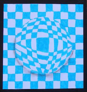 Tekenen en zo op art in de stijl van victor vasarely for 3d tekenen op computer