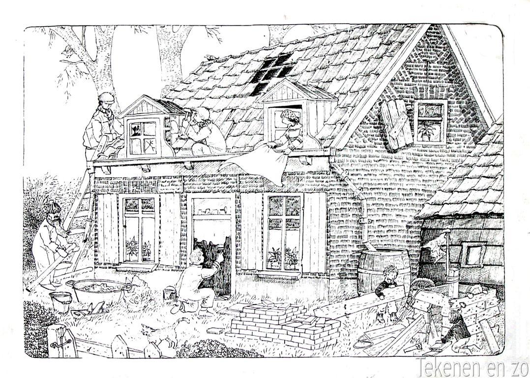 Tekenen en zo ontdek je plekje for Huizen tekenen