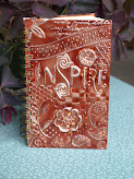 Metal embossed book